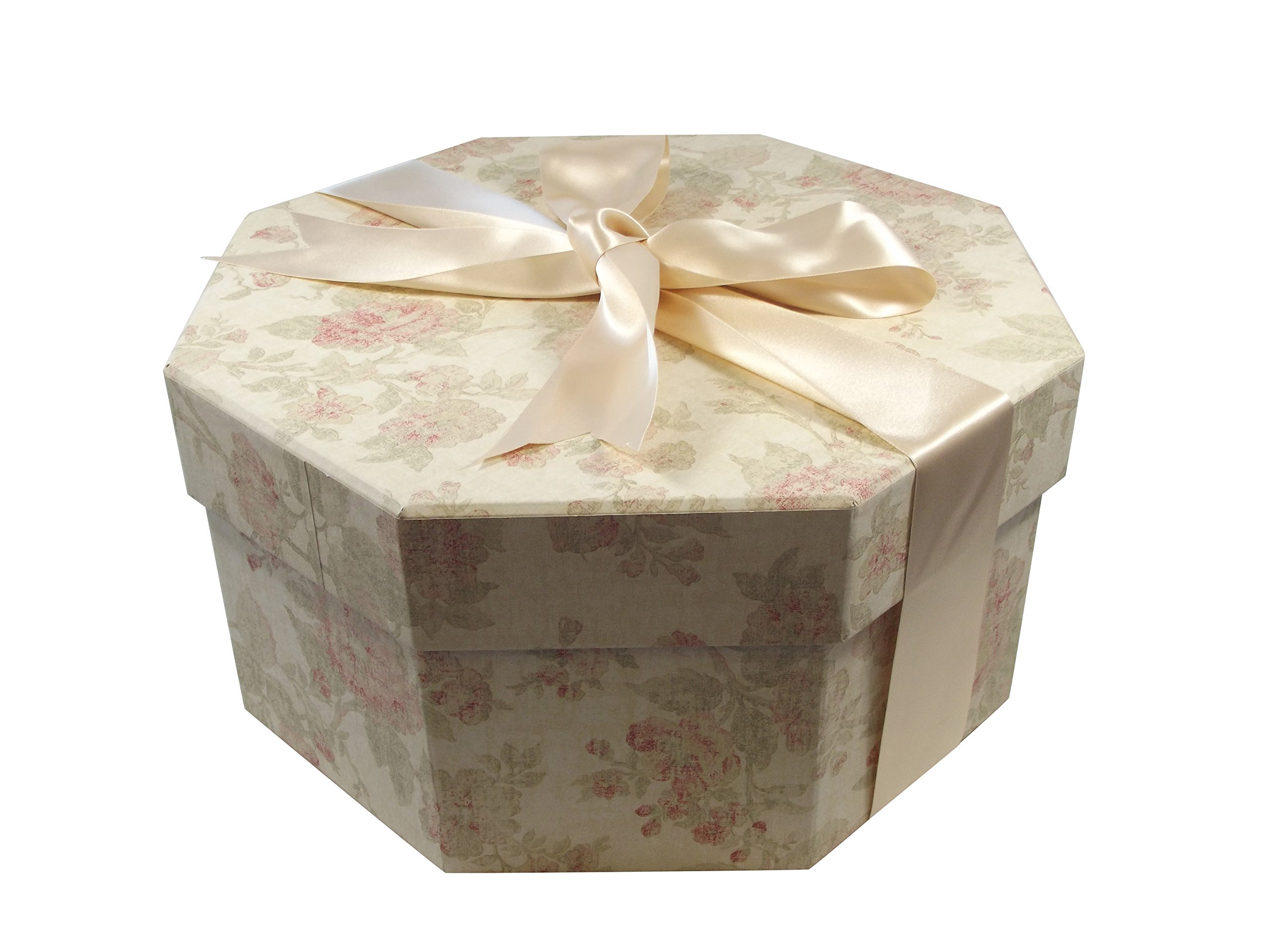 Foster-Stephens, inc Colorful Hat Box - Antique Pink (Medium: 15.75'' Diameter x 7.87'') by Foster-Stephens, inc