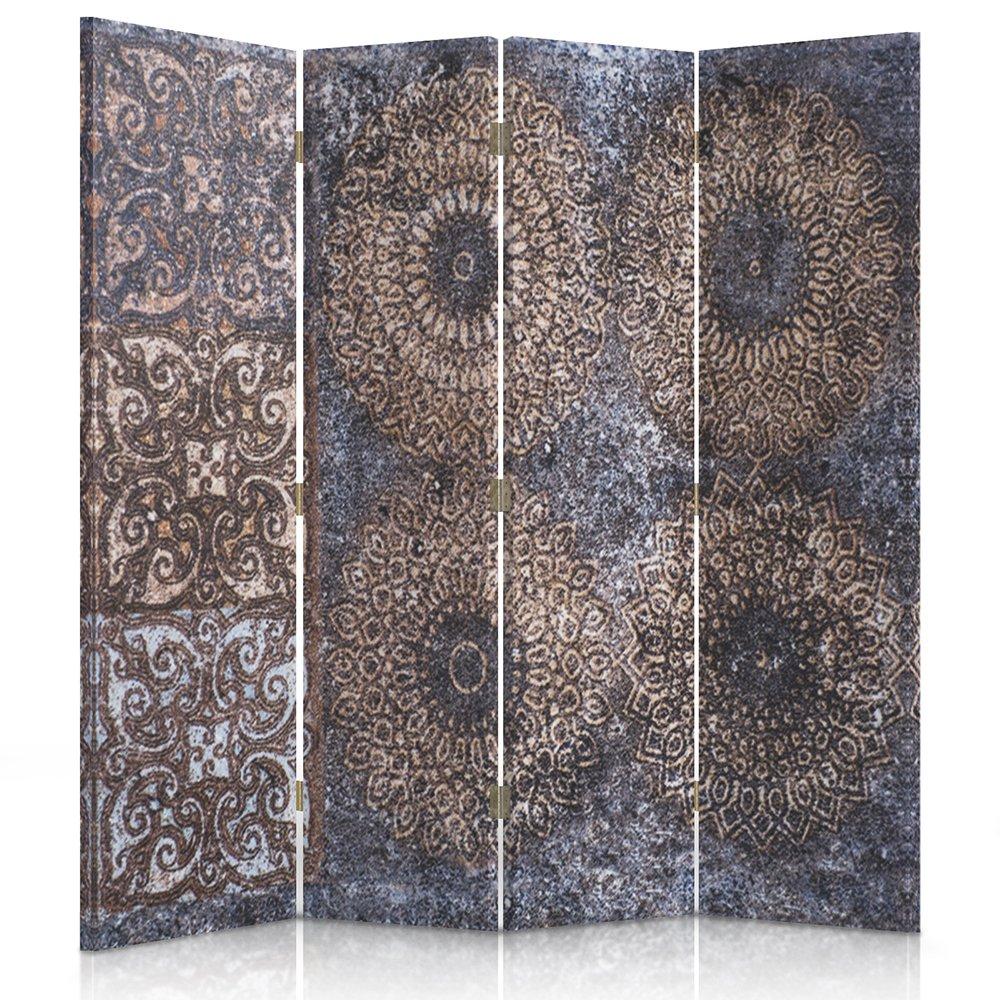 Feeby Frames Il paravento Stampato su Telo,Il divisorio Decorativo per Locali, bilaterale, a 3 Parti, 360° (110x150 cm), Mosaico, Design, Arte, Cultura 360° (110x150 cm)