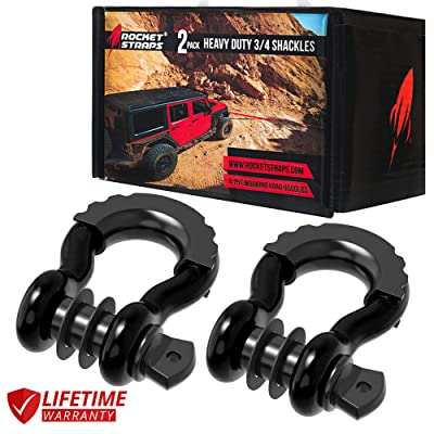 "Rocket Straps | (2 ¾"" D Ring Shackles (57,000lbs) Break Strength 