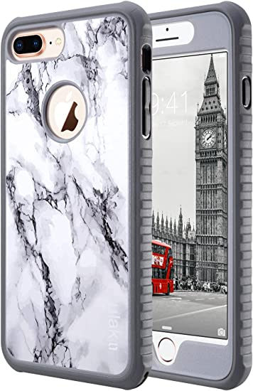 Amazon Com Ulak Iphone 8 Plus Case Iphone 8 Plus Case Marble Heavy Duty Shockproof Flexible Tpu Bumper Durable Anti Slip Lightweight Front And Back Hard Protective Safe Grip Cover For Apple Iphone 8