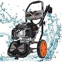 Hidrolimpiadora de Gasolina, 2800 PSI/190 Bar, 480 L/H, Motor OHV de 4 Tiempos de 209 CC, 6,5 HP, Tanque de jabón, Juego de 5…