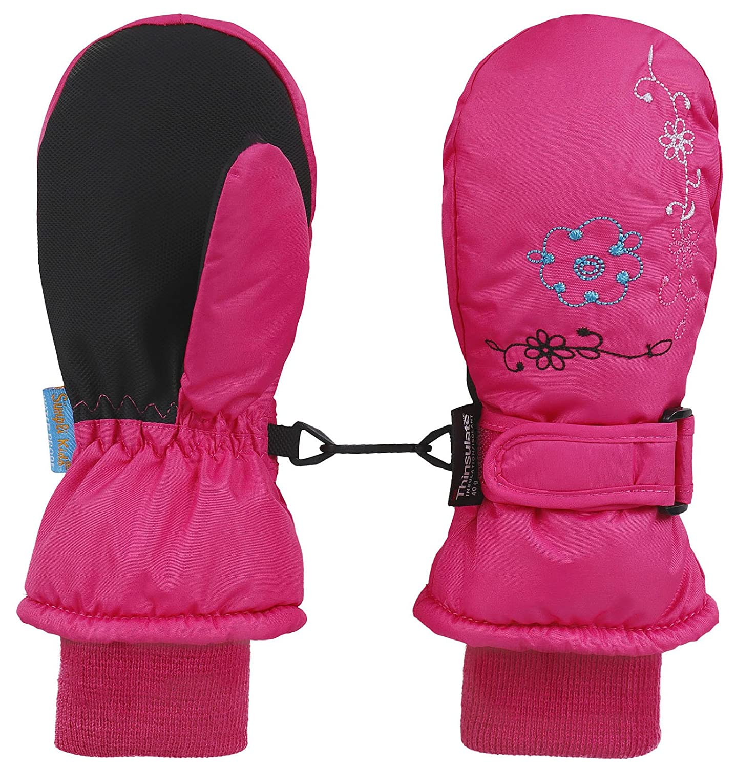 Livingston Children Thinsulate Lining Waterproof Winter Sports Snow Ski Mittens
