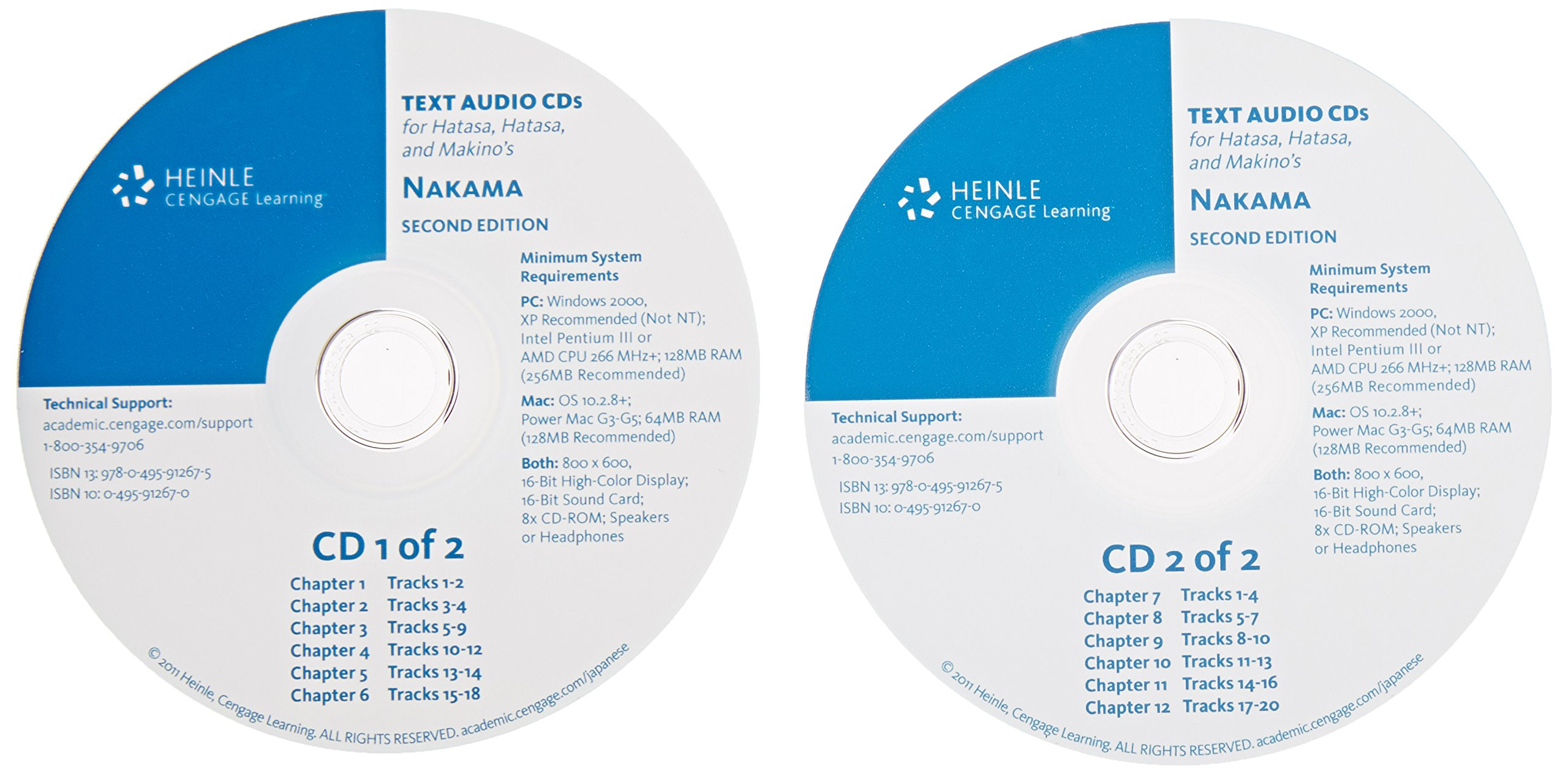 Audio CD-ROM (2) for Hatasa/Hatasa/Makino's Nakama 1