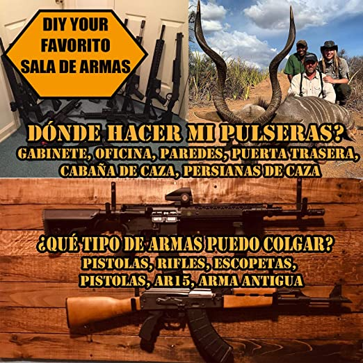 Crochets De 2 Pi/èces Rangement Mural en Acier Inoxydable Supports Fusil OKBY Support pour Pistolet