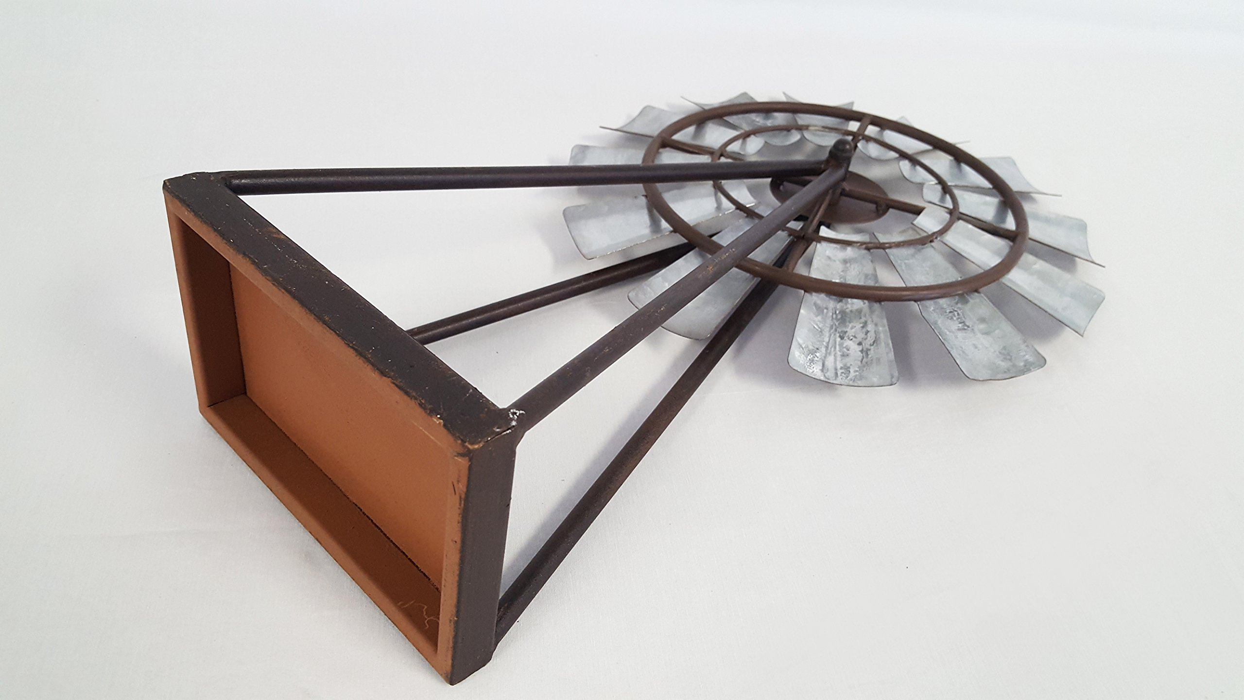 Large Standing and Spinning Windmill Metal Decor by Everydecor (Image #3)