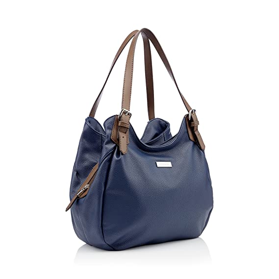 87803f63f0bd Principles Navy Faux Leather Scoop Grab Bag  Principles  Amazon.co.uk   Clothing