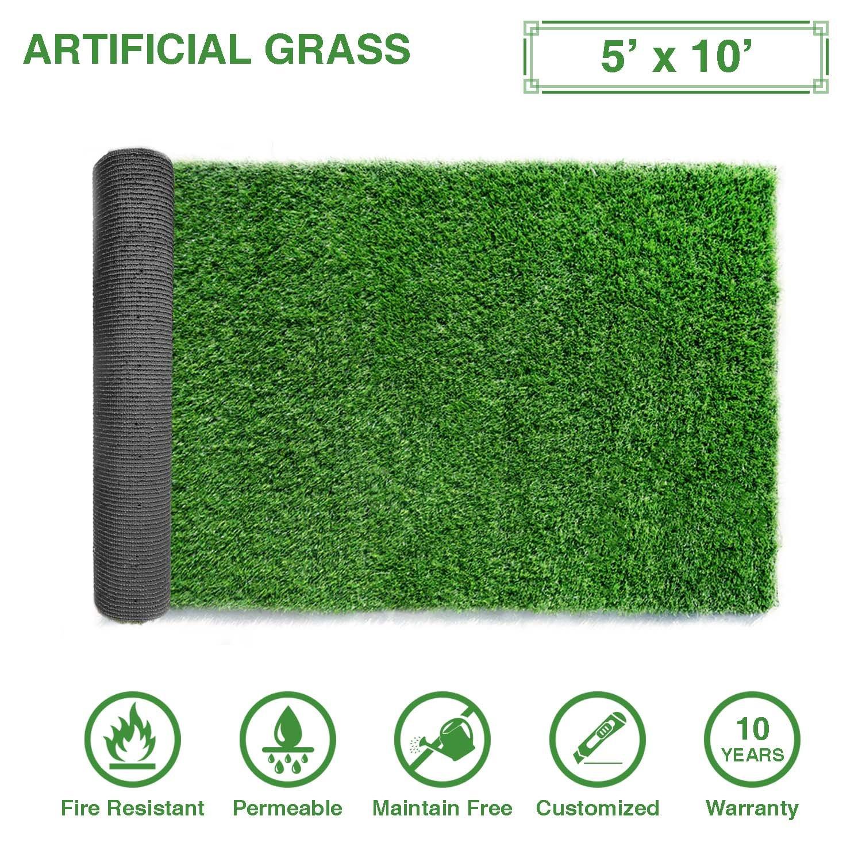 LitaプレミアムArtificial Grass 7 ' x 13 ' ( 91平方フィート)リアルなフェイクタトゥーGrassデラックスTurf Synthetic Turf Thick LawnペットTurf – Perfect forインドア/アウトドア横 – カスタマイズされたサイズ可能, 3 FT x 8 FT (24 Square FT) B079PTW61J 3 FT x 8 FT (24 Square FT),Length: 3 Ft