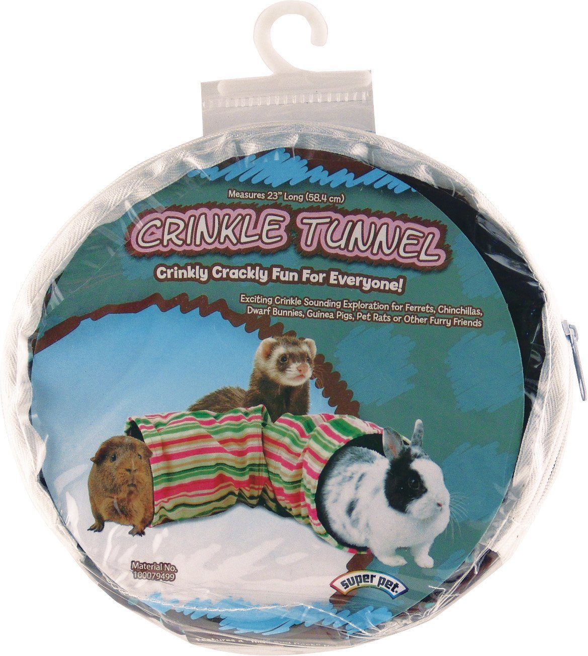Super Pet 2 Pack of Crinkle Tunnels, Colors May Vary, 23-Inch Length