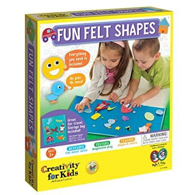 Creativity for Kids My First Fun Felt Shapes - Travel Friendly Felt Board for Toddlers (Imaginative Pretend Play for Kids, 100+Piece), Multi (1274000): Toys & Games