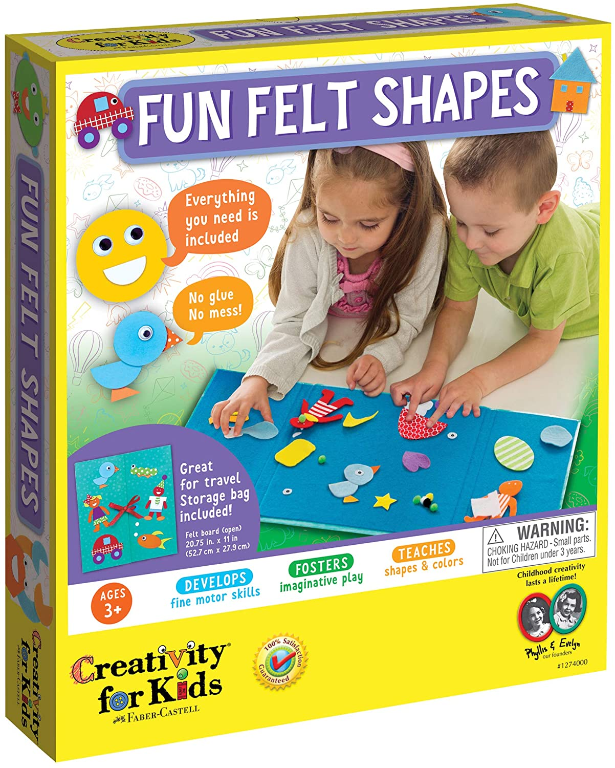 Creativity for Kids My First Fun Felt Shapes - Travel Friendly Felt Board for Toddlers