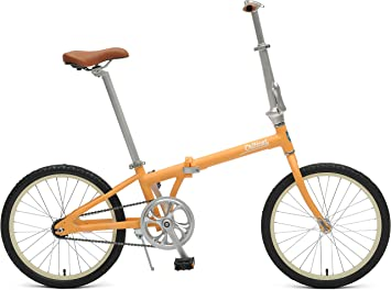 Critical ciclos Judd Single-Speed Plegable Bicicleta con Freno de Posavasos, Color Matte Saffron