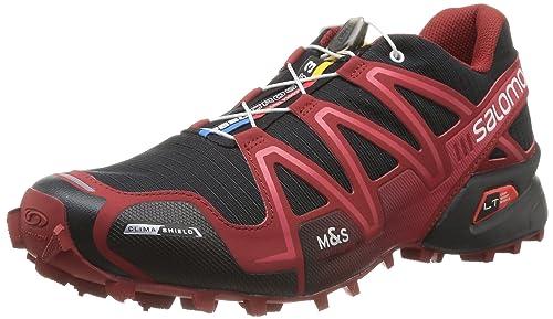 Salomon Speedcross 3 Cs, Zapatillas para Hombre, Multicolor (Black/Flea/White), 46 2/3: Amazon.es: Zapatos y complementos