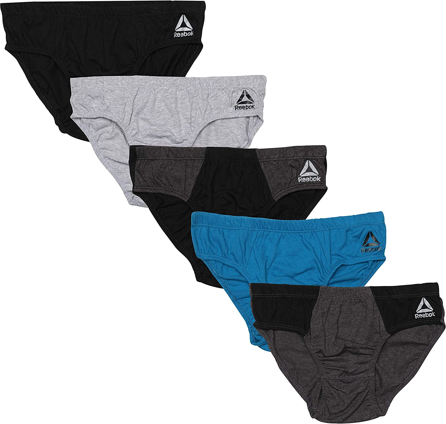 Reebok Men's Low Rise Underwear Briefs (5 Pack)