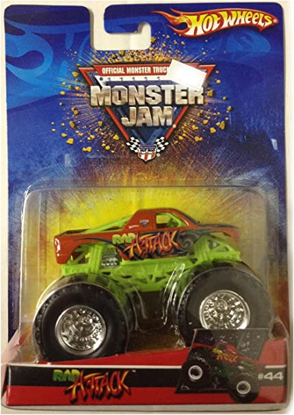 Amazon Com Hot Wheels Rap Attack Monster Truck 2006 Monster Jam 44 1 64 Scale Collectible Die Cast Truck Toys Games