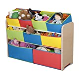 Amazon Price History for:Delta Children Multi-Color Deluxe Toy Organizer with Storage Bins