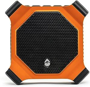 ECOXGEAR EcoDrift GDI-EXDRFT200 Rugged Waterproof Floating Portable Bluetooth Wireless 15-Watt Smart Speaker with Integrated Siri & Google Voice Control (Orange)