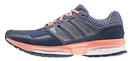 adidas Response 2 Techfit W, Zapatillas de Running para Mujer, Azul/Morado/