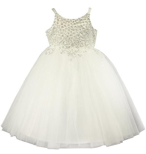847392108 Boutique-Magique Vestido de novia - Noche - Cuello redondo - Sin mangas -  Niñas Ivoire - Ecru 10 años  Amazon.es  Ropa y accesorios