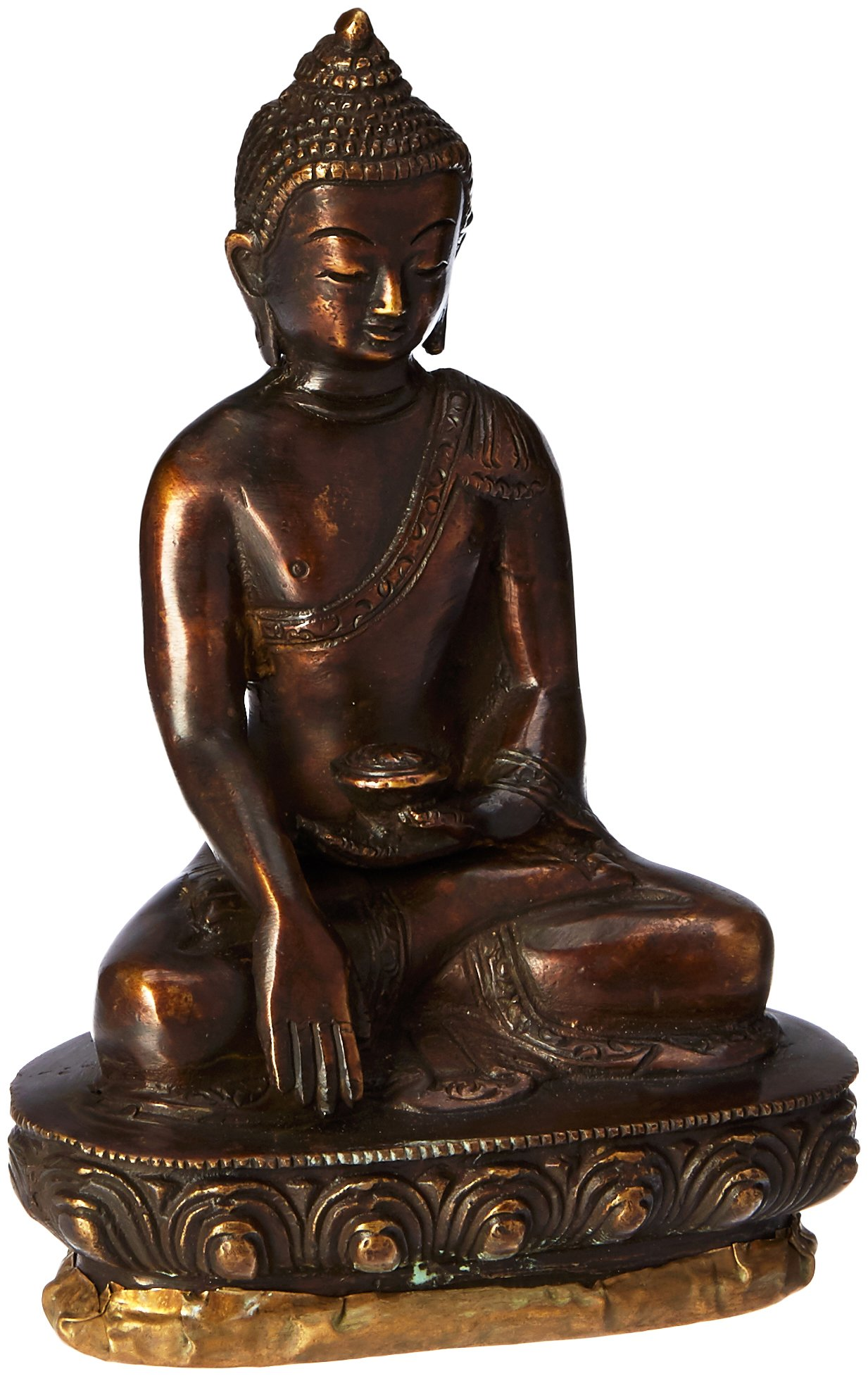 The Buddha in Bhumisparsha Mudra - Copper Statue by Exotic India (Image #1)