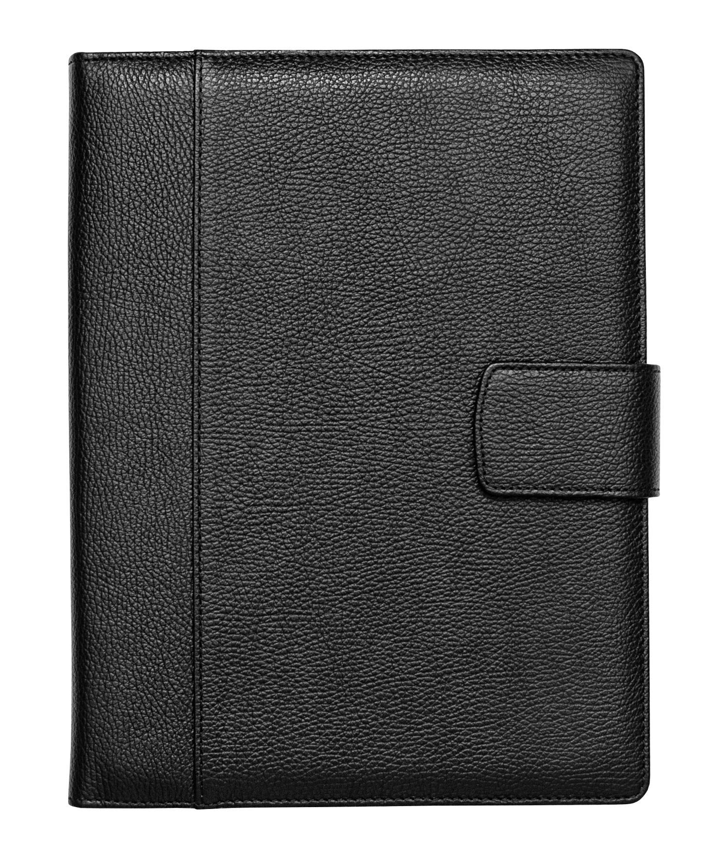 Maruse Italian Leather Padfolio Folder Organizer with Magnetic Closure and Writing Pad 8.5 x 11 - Made in Italy (Black) by Maruse