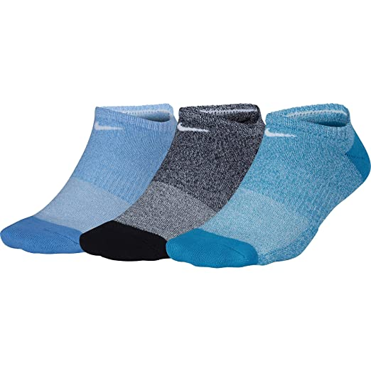 buy online 7081c 4c885 Nike Women`s Performance Cushioned No Show Training Socks (3 Pair)  (Multicolor