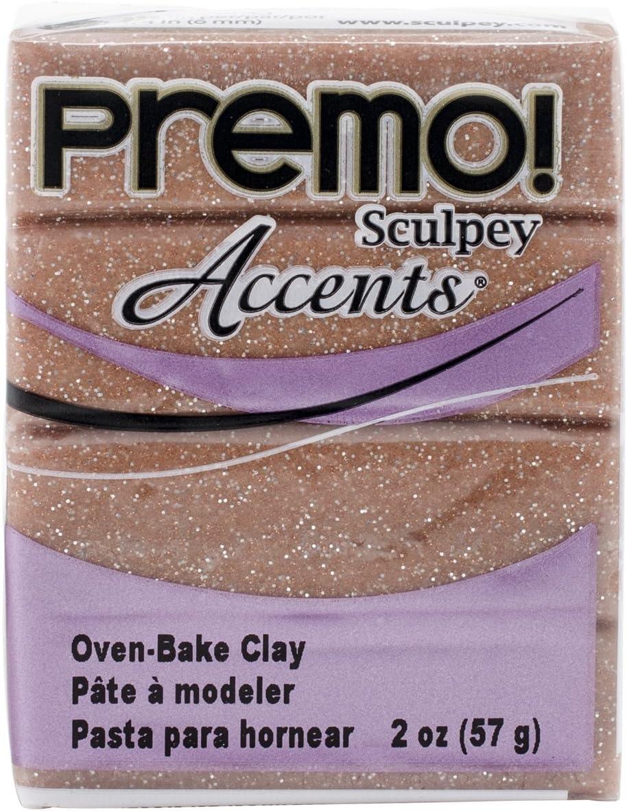 Sculpey Premo Accent Clay, Rose Gold Glitter