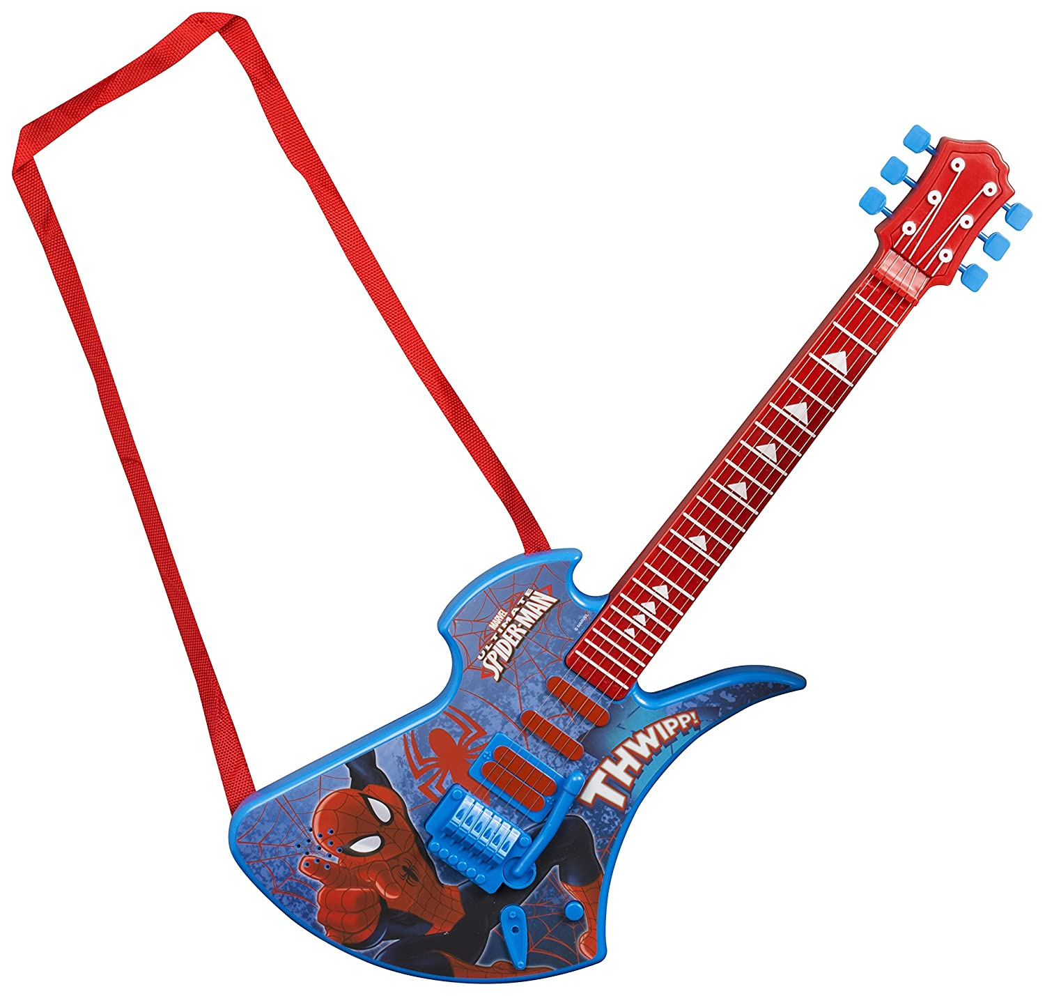 Sambro Spiderman Deluxe Guitar Amazon Toys & Games