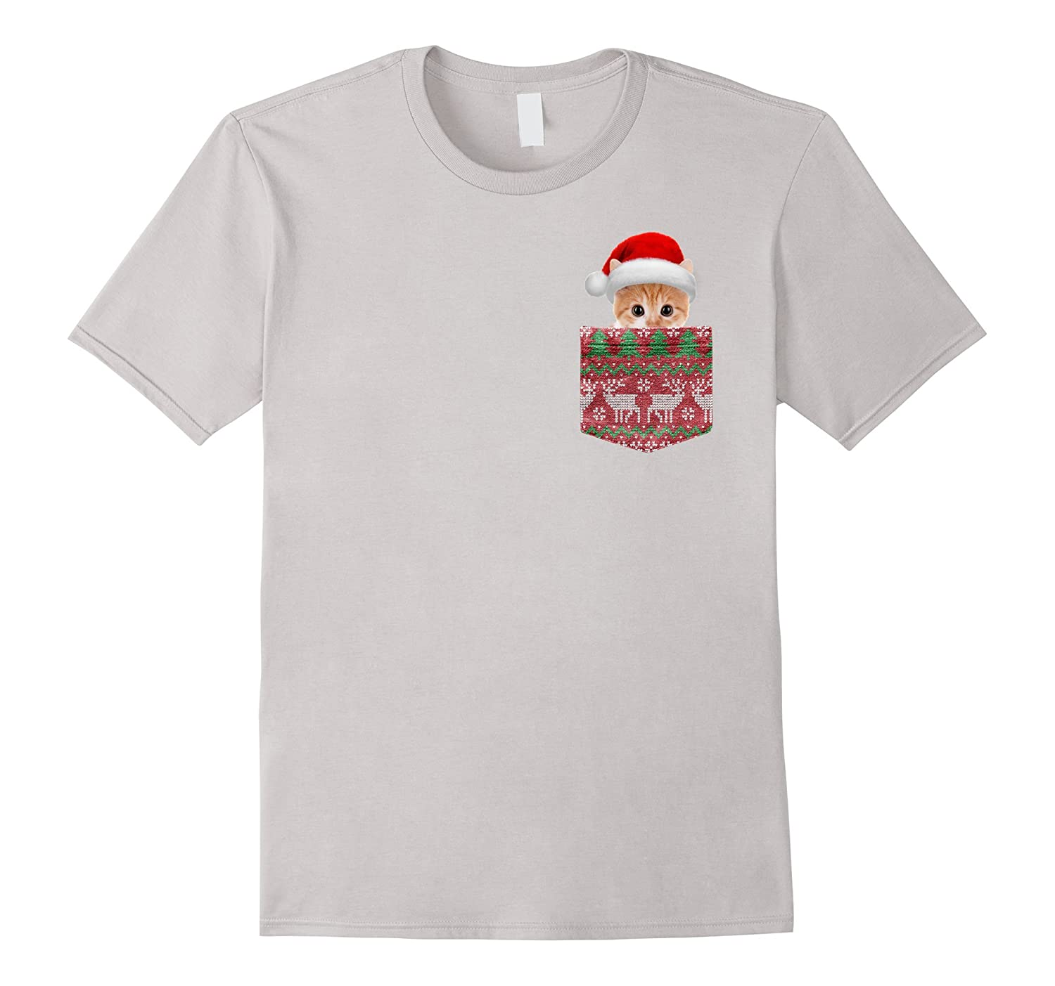 Adorable Santa Kitten in Your Christmas Sweater Pocket Shirt-ANZ ...
