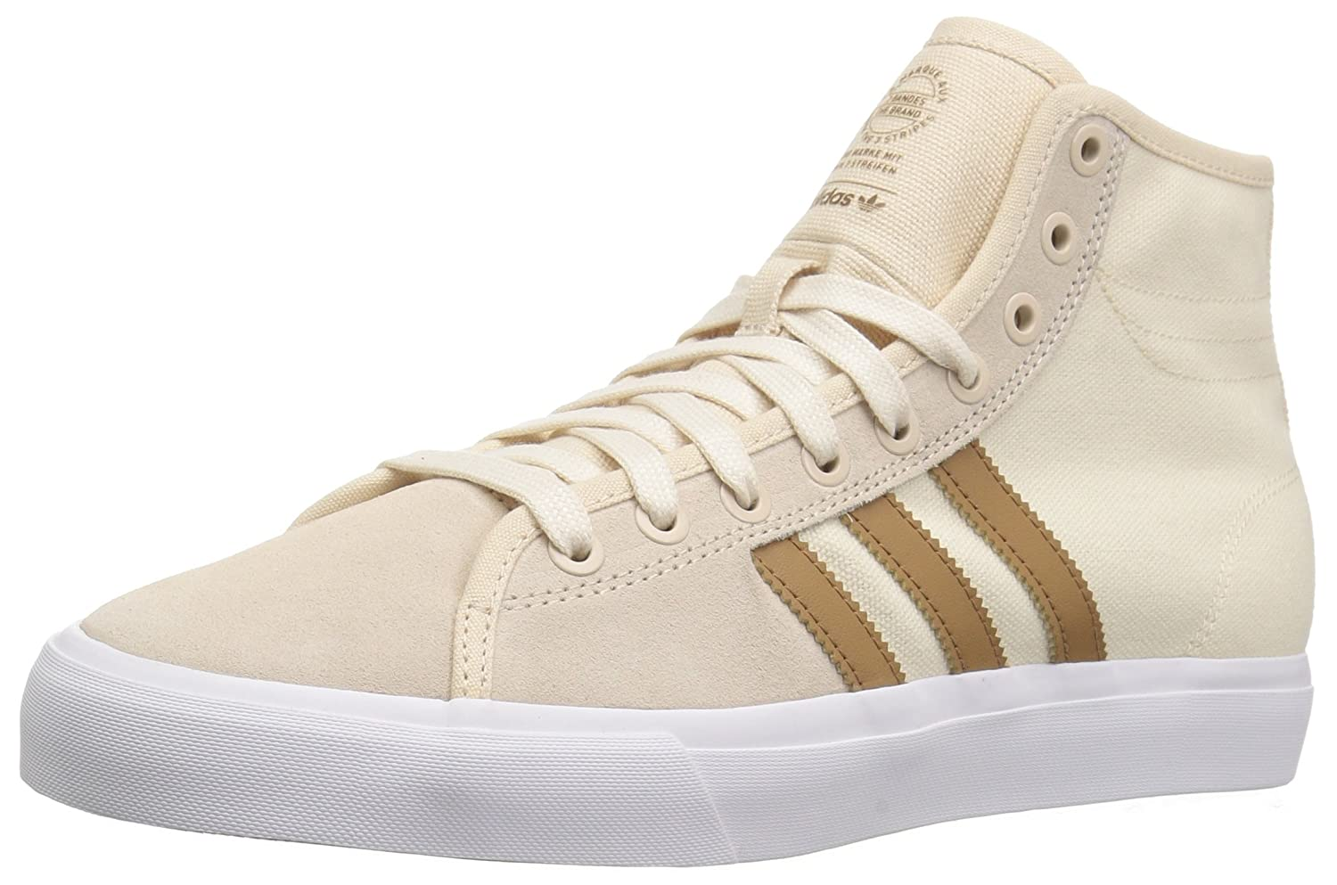 adidas Originals Men's Matchcourt High Rx Skate Shoe 11 D(M) US|Linen/Raw Desert/Ecru Tint