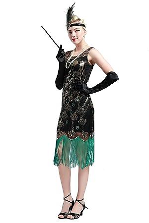 BABEYOND 1920 Flapper Accesorios Años 20 Disfraz Gatsby Conjunto de Flapper Acessorios (Diadema Collar de Perlas Guantes Boquilla) (Set-1): Amazon.es: ...
