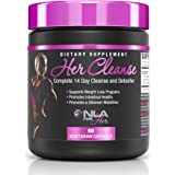 NLA for Her - Her Cleanse - Complete Detoxifier and Cleanse - Full Body Cleanse & Detox Support, Promotes Healthy Digestive System, & Prevents Bloating and Gas - 60 Vegetarian Capsules