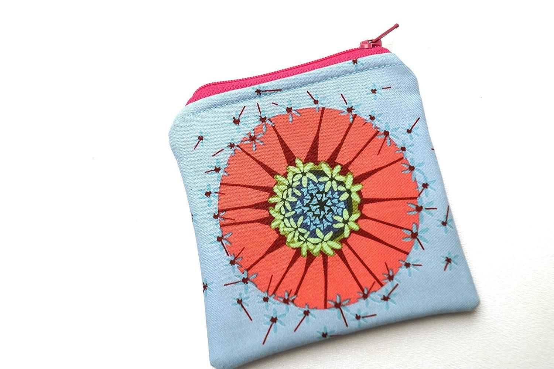 Cute Small coin purse floral fabric