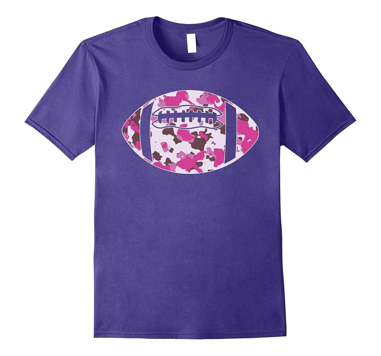 Camouflage Football Shirt - Pink Camo Football T-Shirt-BN