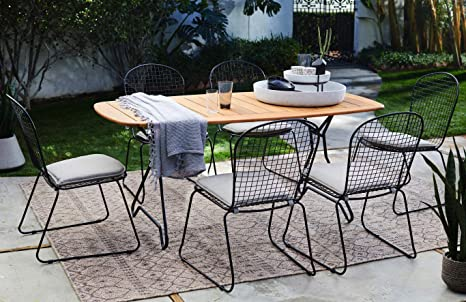 Super Amazon Com Patio Dining Set Industrial Style Outdoor Creativecarmelina Interior Chair Design Creativecarmelinacom