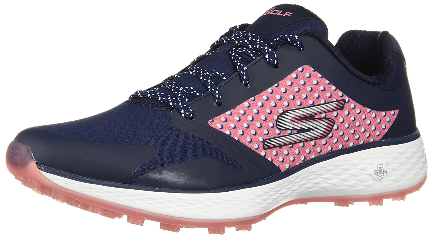 Skechers 2018 Go Golf Eagle LEAD Womens Spikeless Shoes 14864 Charcoal/Blue 5.5UK iI4DAxNV4