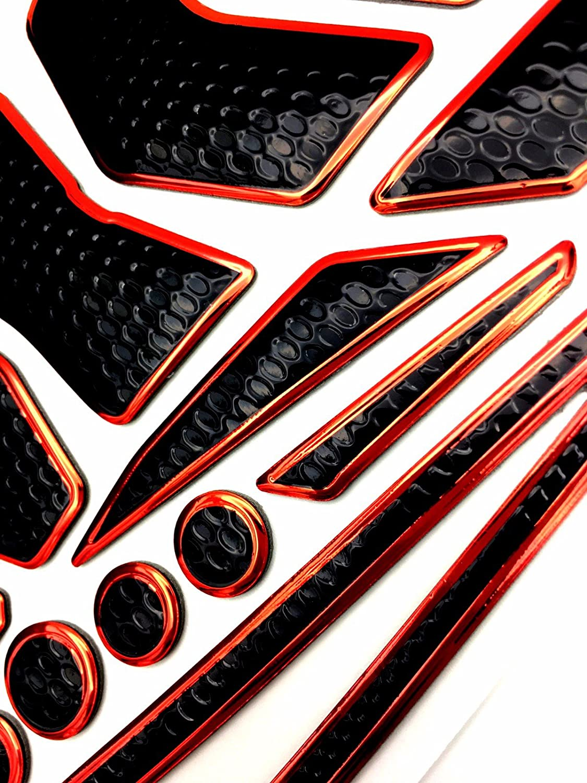 Niree Motorcycle Tank Gas Metallic Luster Protector Pad Sticker Decal for Suzuki GSR600 GSXR600 GSXR750 GSXR1000 GSR750//GSX-S750 C06#