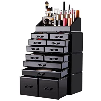 Image result for rangement maquillage acrylique noir