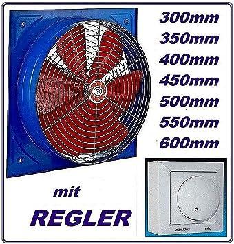 550 mm - Ventilador industrial con 600 W regulador de velocidad ...