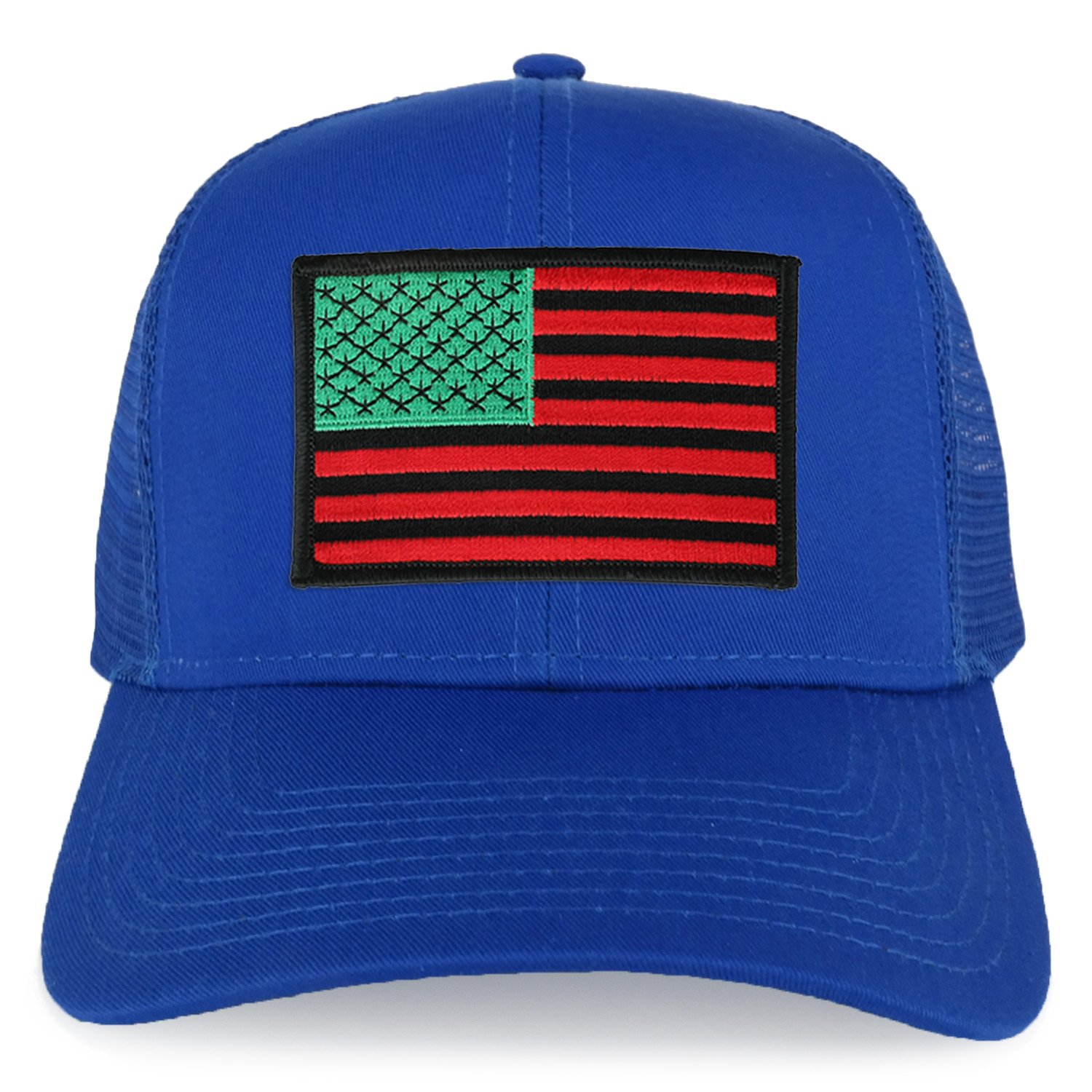 a86aba4357d Armycrew XXL Oversize Red Green Black USA Flag Patch Mesh Back Trucker  Baseball Cap - Black at Amazon Men s Clothing store