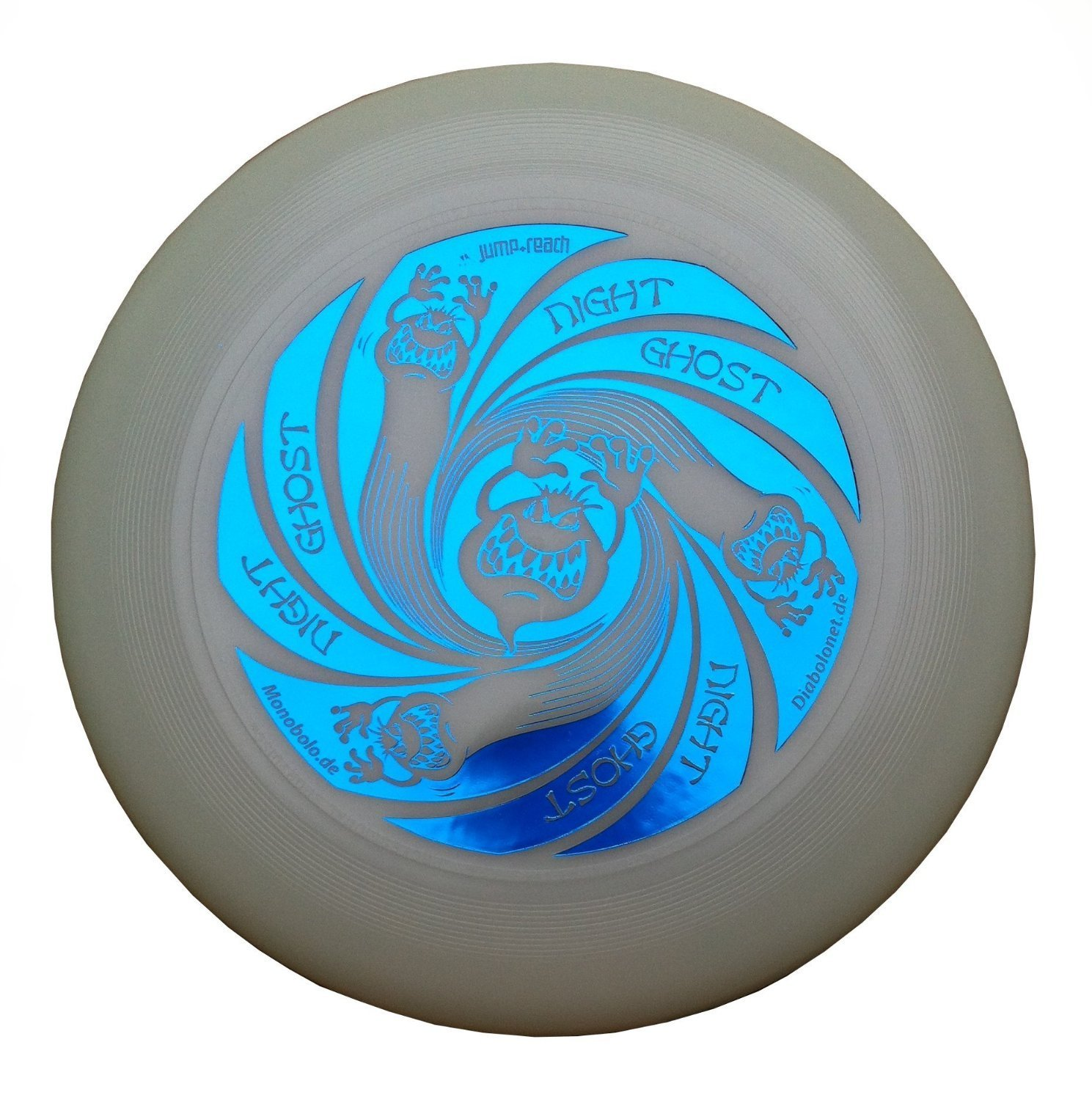 Ultimate Frisbee Discraft Ultra Star GHOST NIGHT GLOW - noctilucent de color azul metálico