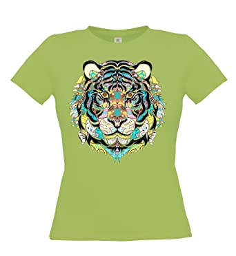 Ethno Designs Streetwear - Mosaic Tiger - Womens Going Out and Party Fashion T-Shirt