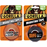 Gorilla Mounting Tape, Double-Sided, Clear & Heavy Duty - Combo Pack