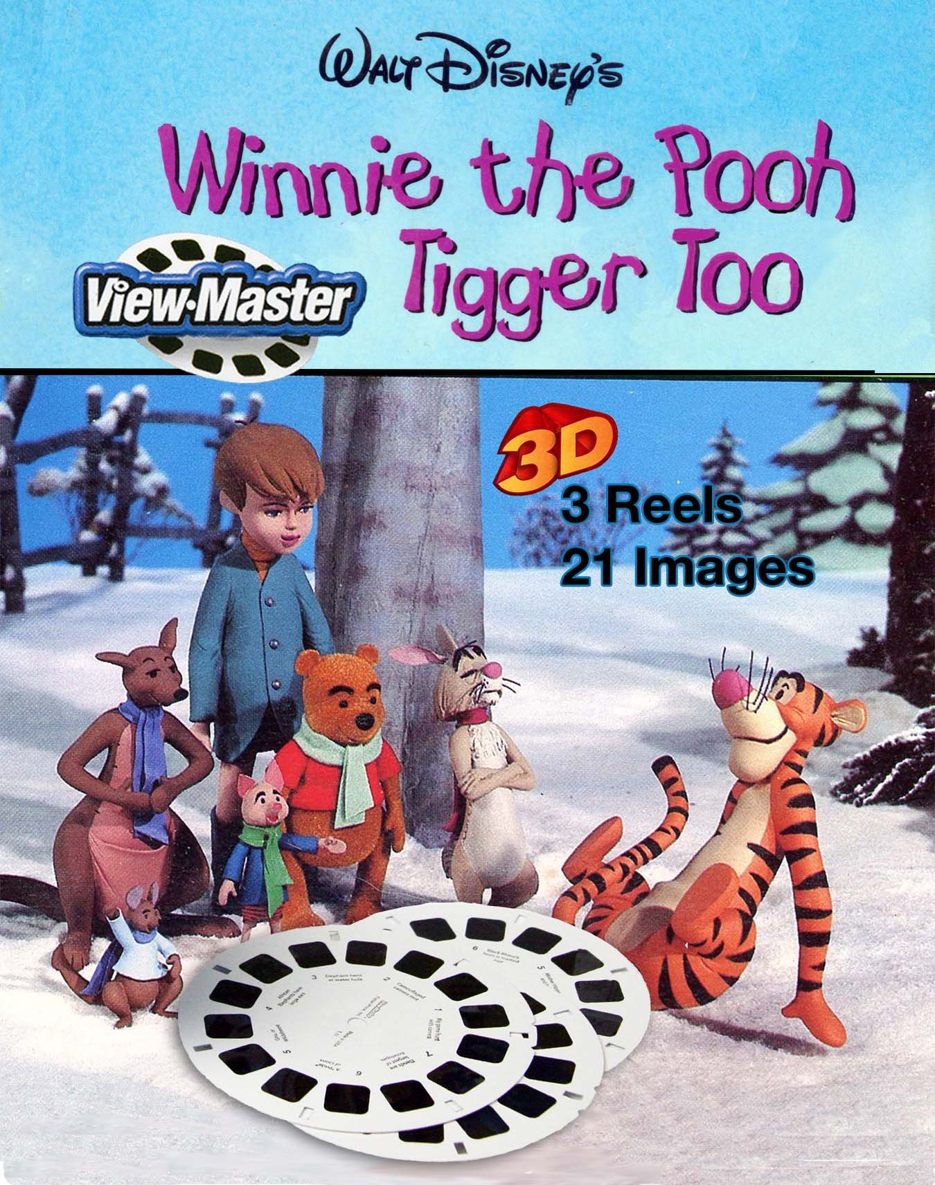 View-Master Classic 3Reel Set Winnie the Pooh and Tigger too by View Master