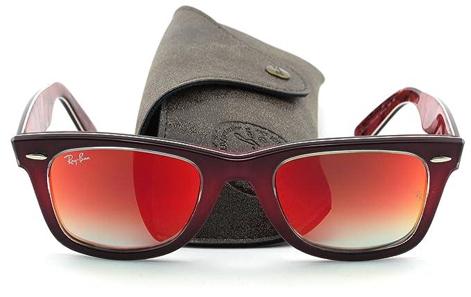 ca2938cd0fe18 Ray-Ban RB2140 Original Wayfarer PIXEL Sunglasses (Brown Pink Frame Mirror Gradient  Lens 12004W