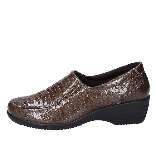 ENVAL SOFT Mocasines de Charol Para Mujer Marrón Marrón: Amazon.es: Zapatos y complementos