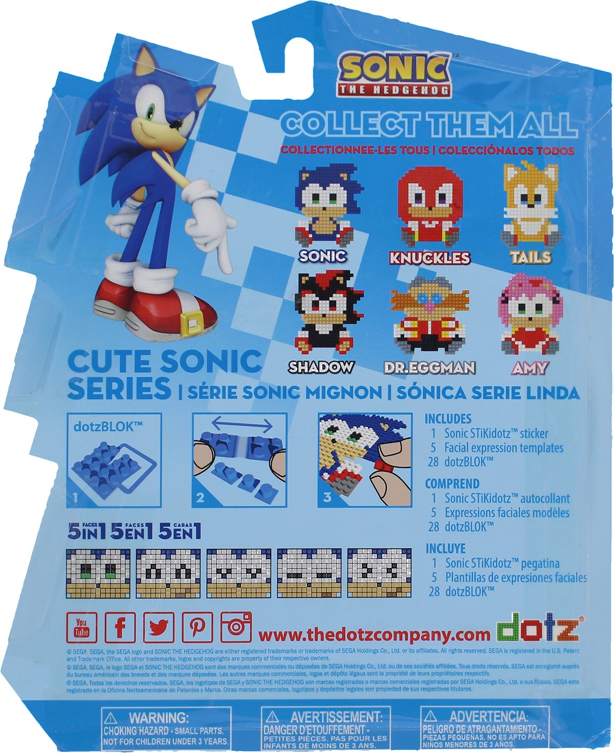 Amazoncom Stikidotz 3d Pixel Art Set With Cute Sonic