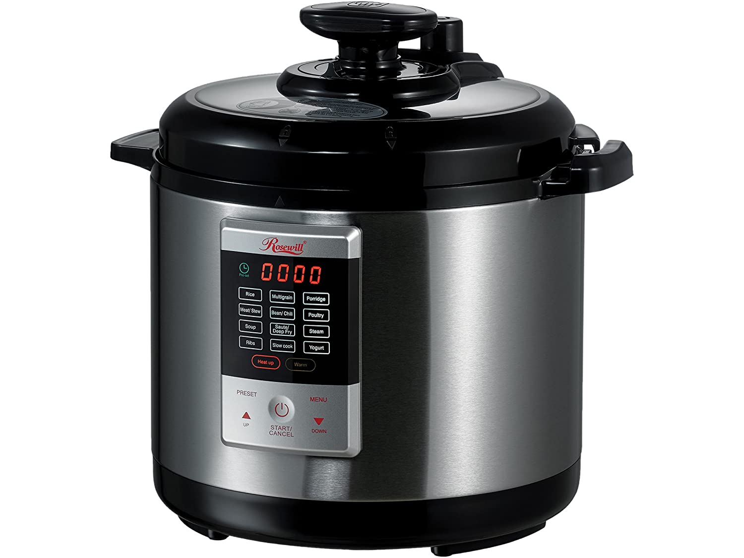 Rosewill Programmable Pressure Cooker 6Qt, 8-in-1 Instapot Multi Cooker: Rice Cooker, Slow Cooker Pressure Cooker, Vegetable Steamer, Deep Fryer, Sauté/Browning, Yogurt Maker, Warmer, HotPot