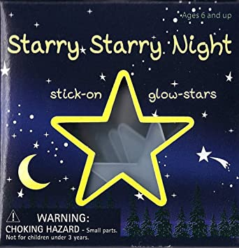 Starry Starry Night - 24 Stick-on Glow Moon & Stars