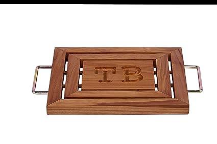 Amazon Com Trivet Teak Wood Zara Teak Wood Trivet Tray 100 Teak
