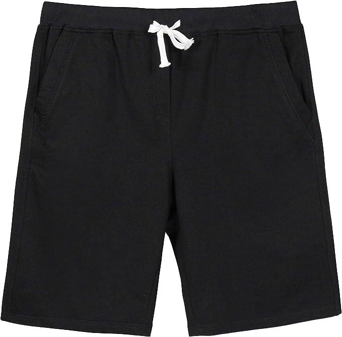 Manwan walk Mens Casual Classic Fit Cotton Elastic Jogger Gym Drawstring Knit Shorts